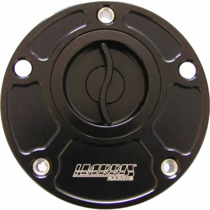 Harris Quick Release & Flush Fitting Fuel Cap in Anodised Black