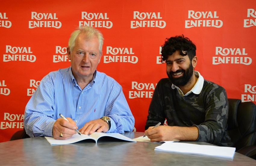 Harris Signing agreement with Royal Enfield