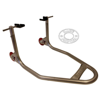 "HARRIS STAINLESS STEEL ""UNIVERSAL CUP TYPE"" REAR PADDOCK STAND"