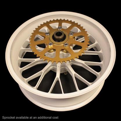 PVM white 10 spoke wheel