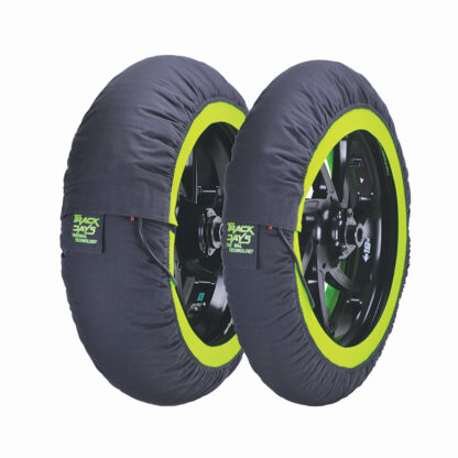 Track day tyre warmers green