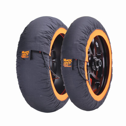 Track day tyre warmers orange
