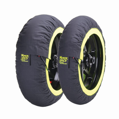 Track day tyre warmers yellow