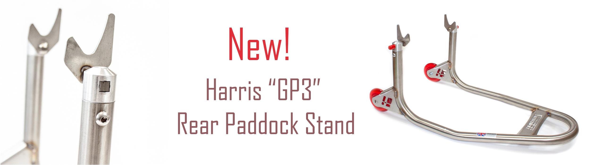"Harris Stainless Steel ""GP3"" Rear Paddock Stand"